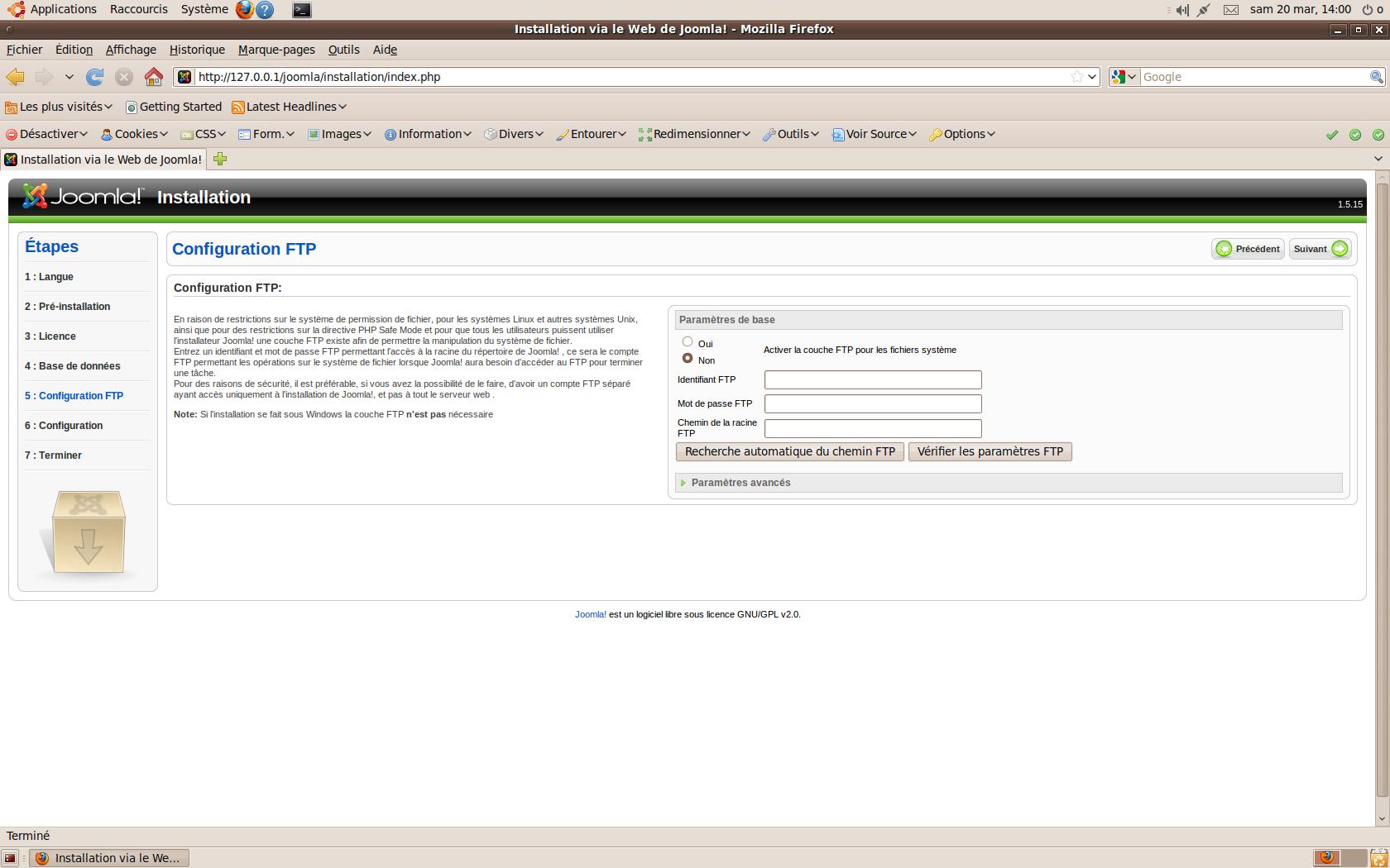 Joomla Configuration FTP