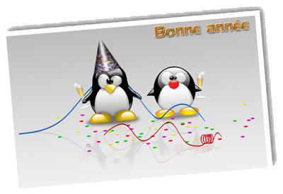 bonne année linux