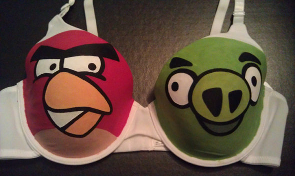 angry birds bra boobs