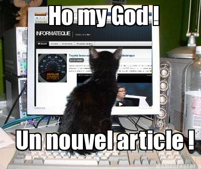 geek cat informateque Ho my god ! Un nouvel article !