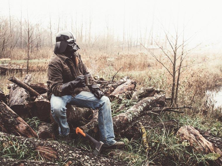 dark vador coupe du bois